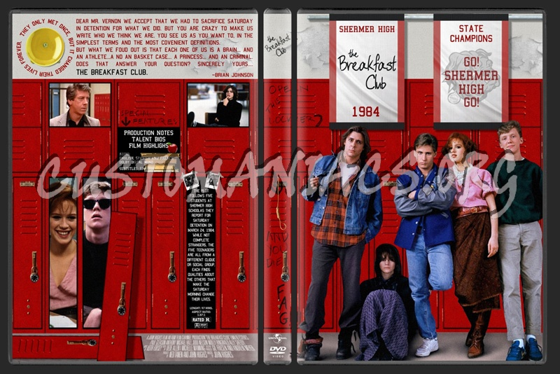 The Breakfast Club dvd cover