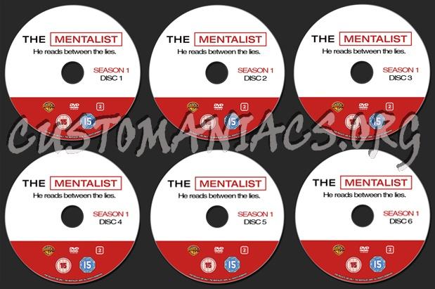 The Mentalist Season 1 dvd label