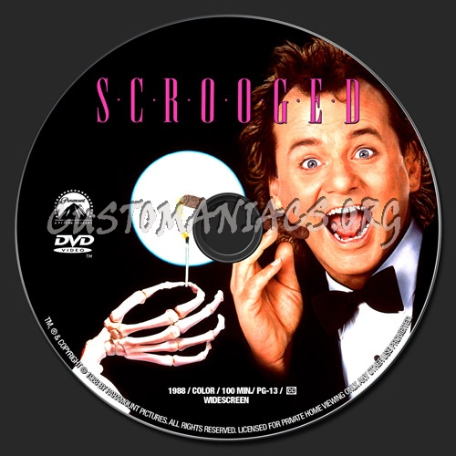 Scrooged dvd label