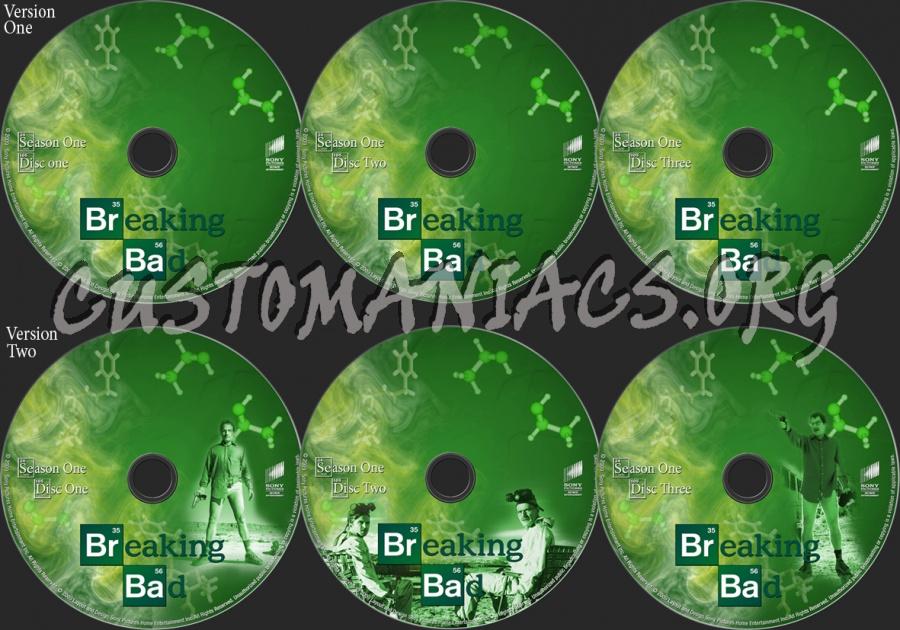 Breaking Bad Season 1 dvd label