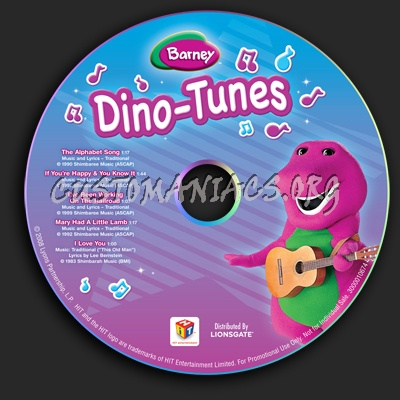 Barney: Dino-Tunes dvd label