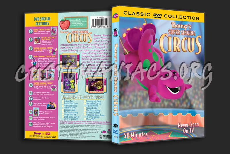 Barney: Barney's Super Singing Circus Dvd Cover