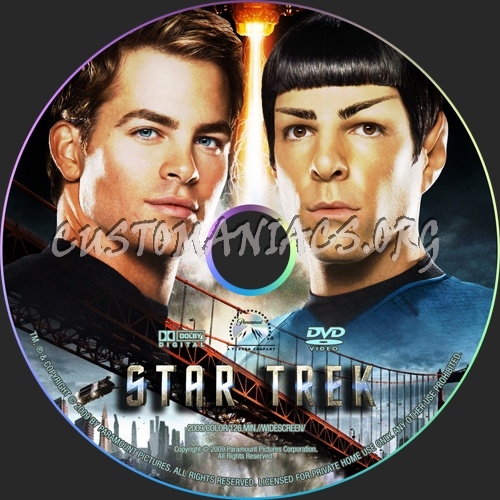 Star Trek 2009 dvd label