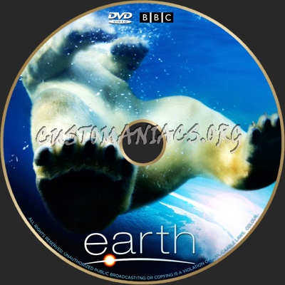 Earth dvd label