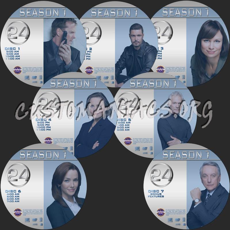 24 Season 7 dvd label
