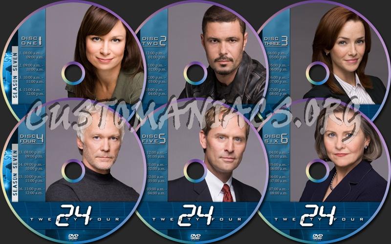 24 Season Seven dvd label