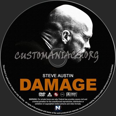 Damage dvd label