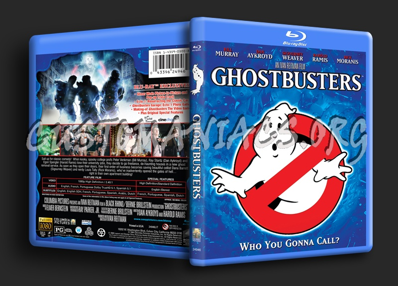 Ghostbusters blu-ray cover