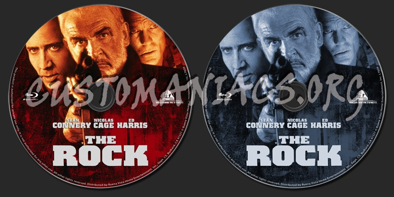 The Rock blu-ray label