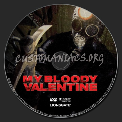 My Bloody Valentine 3D dvd label