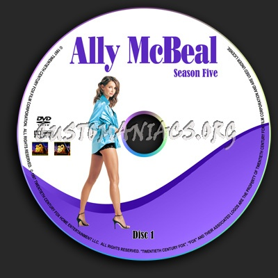 Ally Mcbeal - Season 5 dvd label