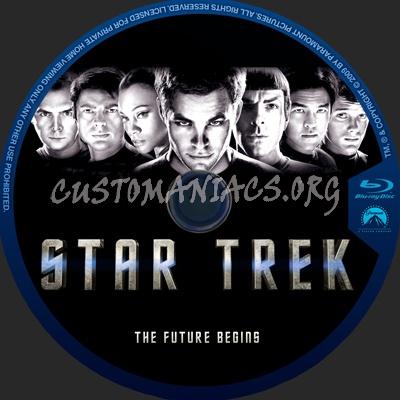 Star Trek (2009) blu-ray label