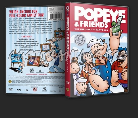 Popeye and Friends Volume 1 dvd cover