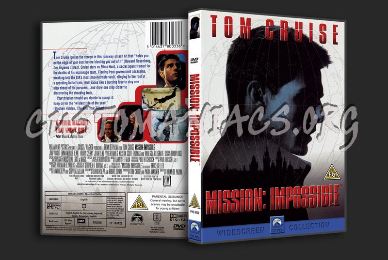 Mission Impossible dvd cover