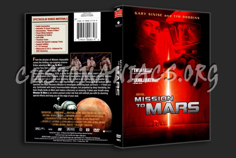 Mission To Mars dvd cover