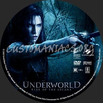 Underworld Rise Of The Lycans dvd label
