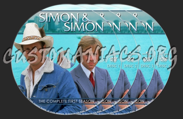Simon & Simon Season One dvd label