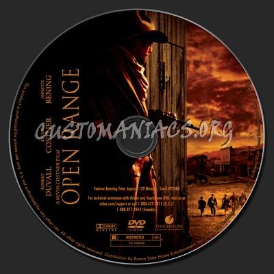 Open Range dvd label