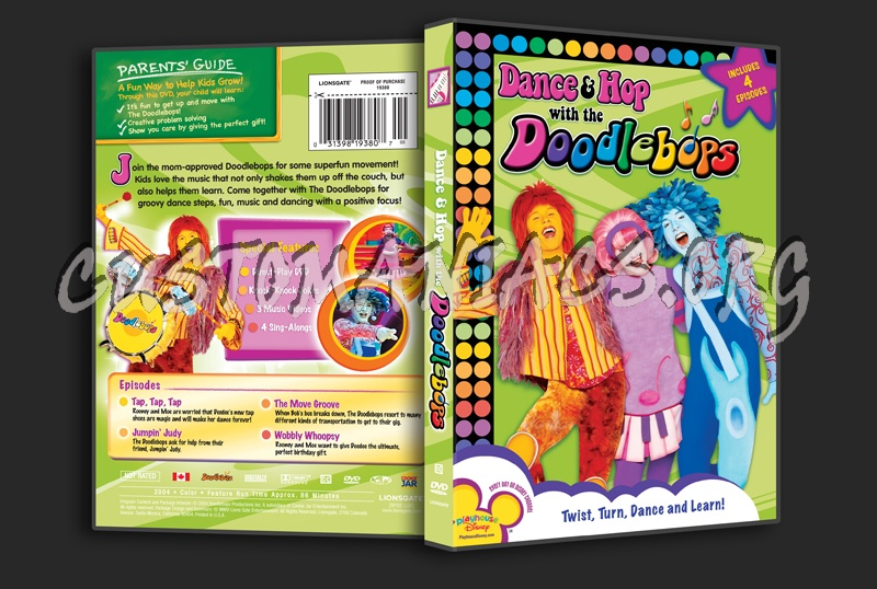 Dance & Hop with the Doodlebops dvd cover