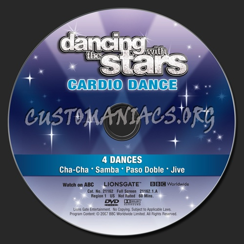 Dancing with the Stars Cardio Dance dvd label