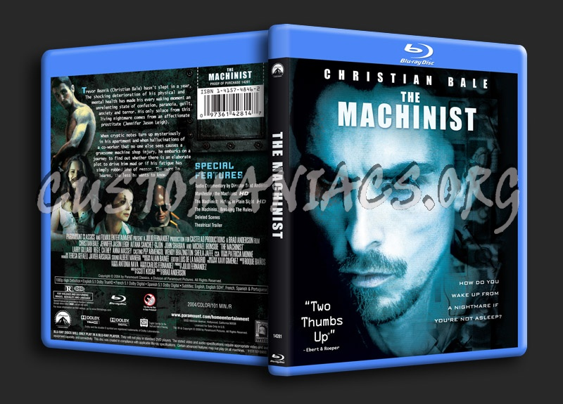 The Machinist blu-ray cover