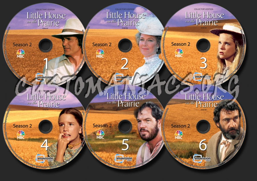 Little House on the Prairie Season 2 dvd label