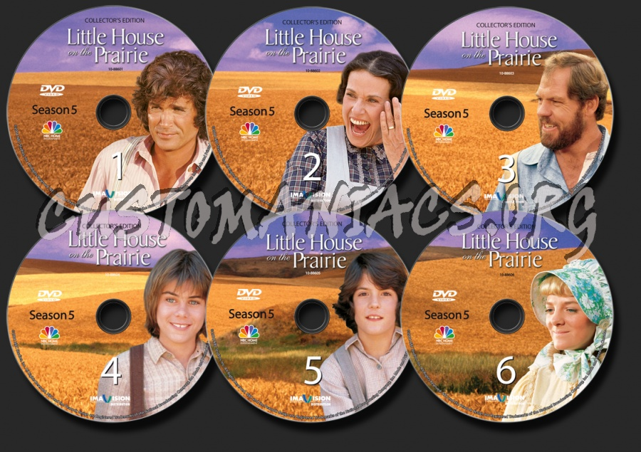Little House on the Prairie Season 5 dvd label
