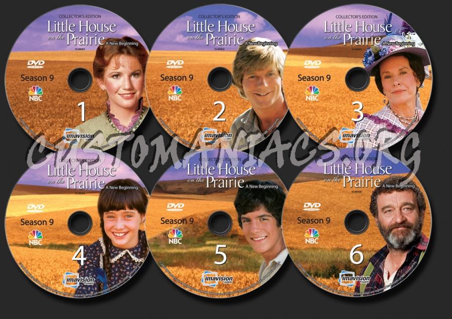 Little House on the Prairie Season 9 dvd label