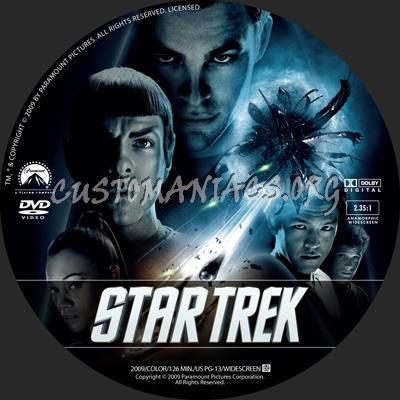 Star Trek dvd label