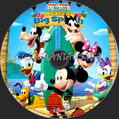 Mickey Mouse Clubhouse Mickey's Big Splash dvd label