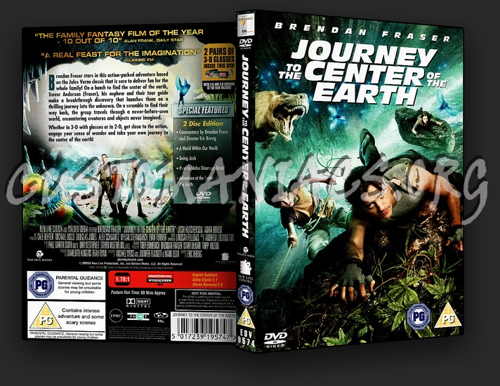Journey To The Centre Of The Earth: 2 Disc Edition dvd cover