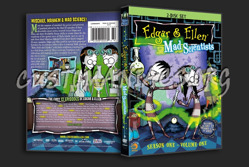 Edgar & Ellen Mad Scientists season 1 volume 1 dvd cover