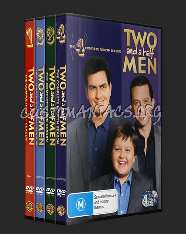Two and a Half Men Seasons 1, 2, 3 & 4 dvd cover