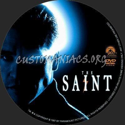 The Saint dvd label