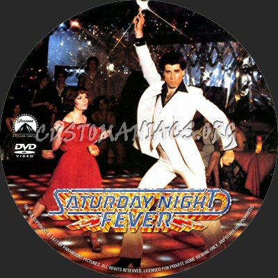Saturday Night Fever dvd label