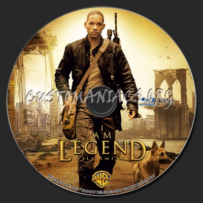I Am Legend blu-ray label