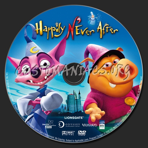 Happily N'ever After dvd label