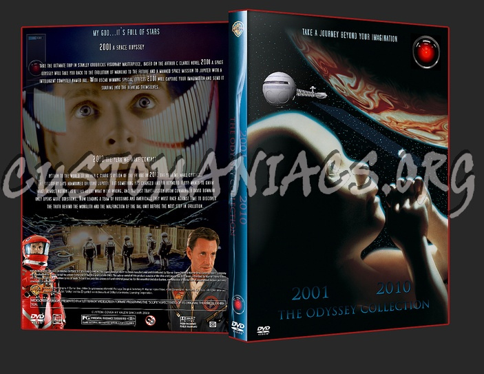 2001 & 2010 Space Odyssey dvd cover