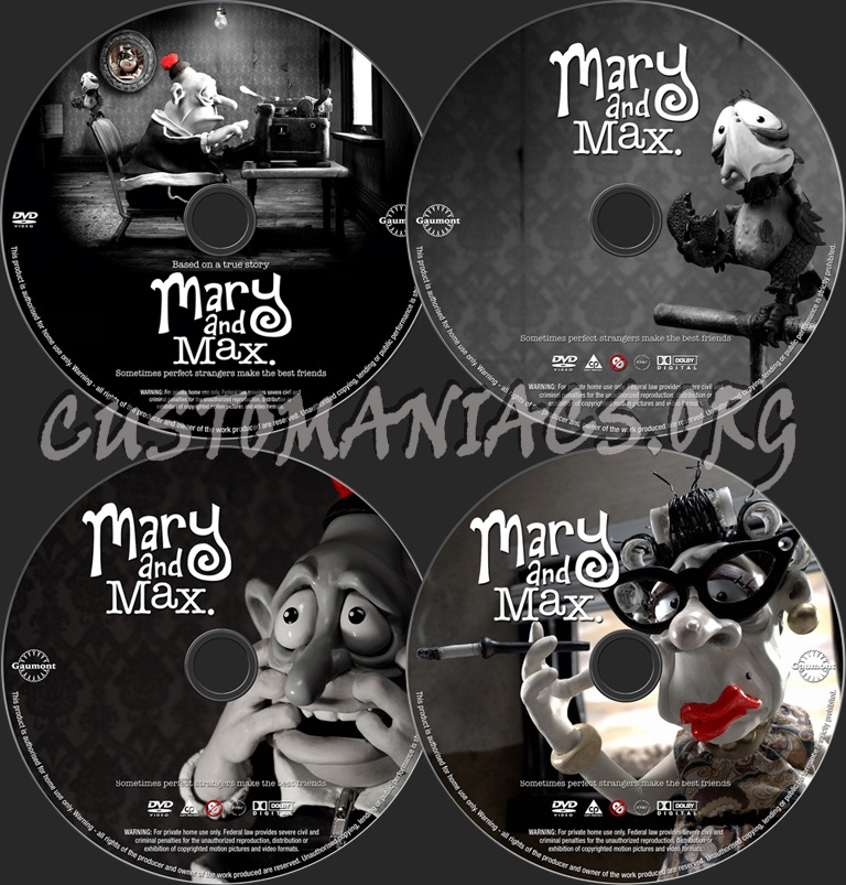Mary And Max Dvd Label Dvd Covers Labels By Customaniacs Id 64248 Free Download Highres Dvd Label