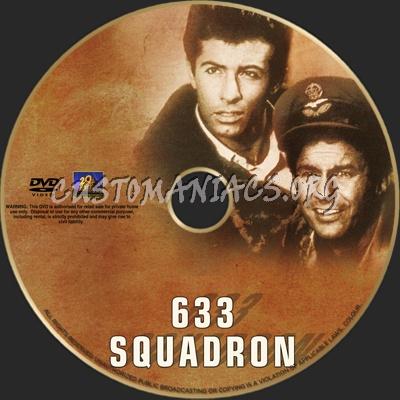 633 Squadron dvd label