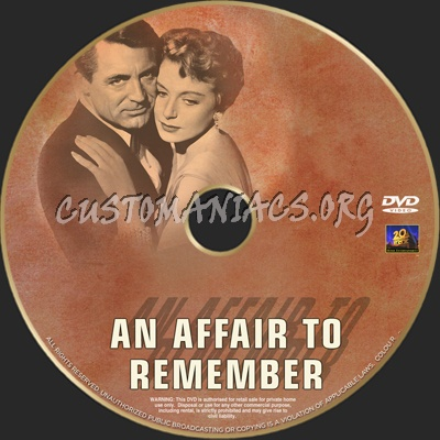 An Affair To Remember dvd label
