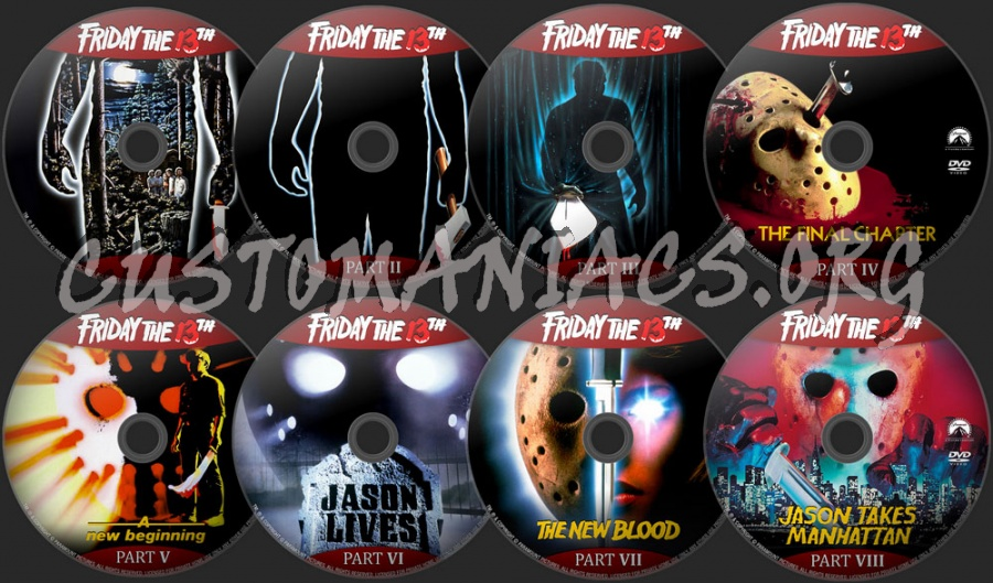 Friday The 13th Collection I-X dvd label