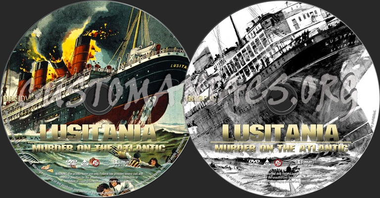 Lusitania Murder on the Atlantic dvd label