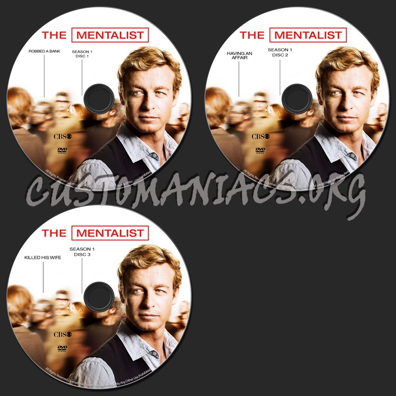 The Mentalist dvd label