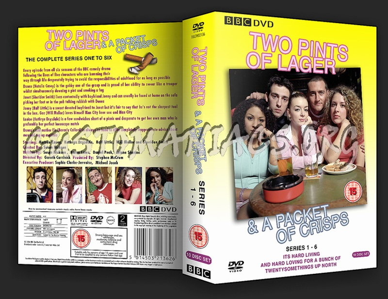 Two Pints Of Lager Series 1 - 6 (Slim 10) V2 dvd cover