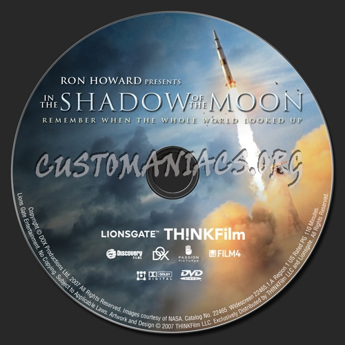 In the Shadow of the Moon dvd label