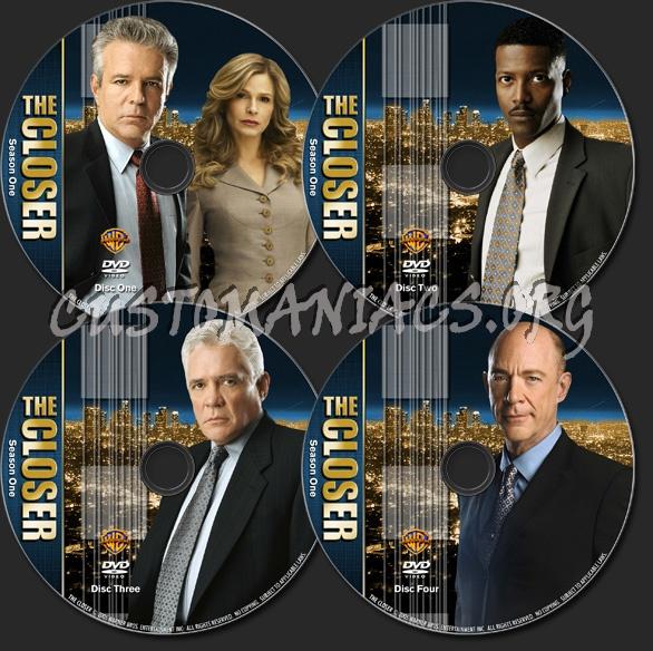 The Closer - TV Collection Season 1 dvd label