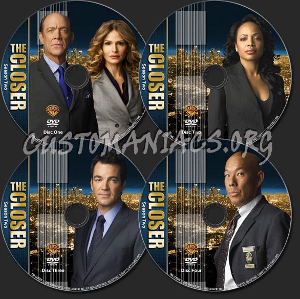 The Closer - TV Collection Season 2 dvd label