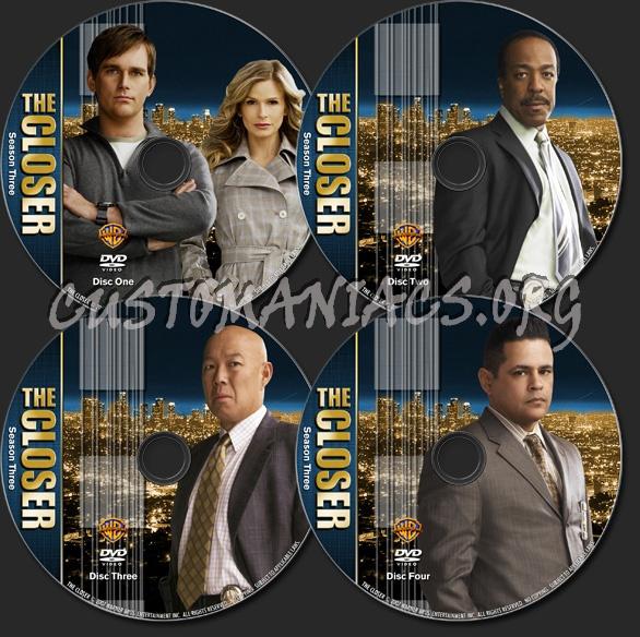 The Closer - TV Collection Season 3 dvd label