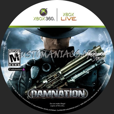 Damnation dvd label